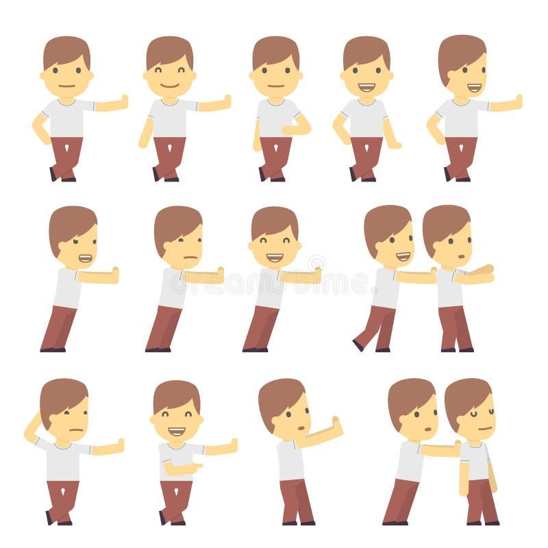 Serie di caratteri urbana nelle pose differenti. semplice royalty illustrazione gratis