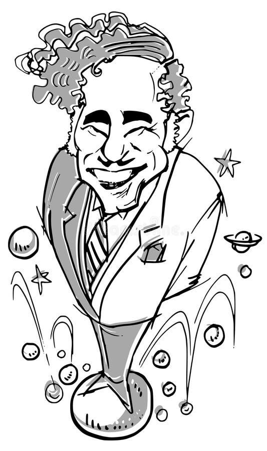 Serie di caricatura illustrazione di stock