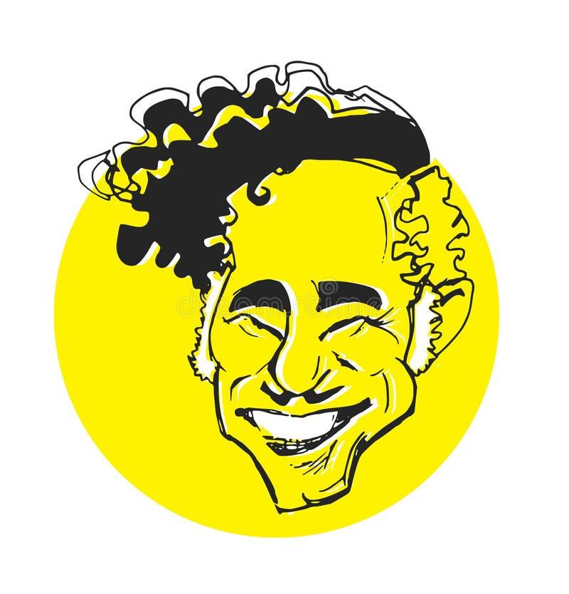 Serie di caricatura: Mel Brooks illustrazione vettoriale