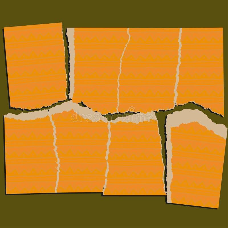 Serie di carta violenta di puzzle illustrazione vettoriale