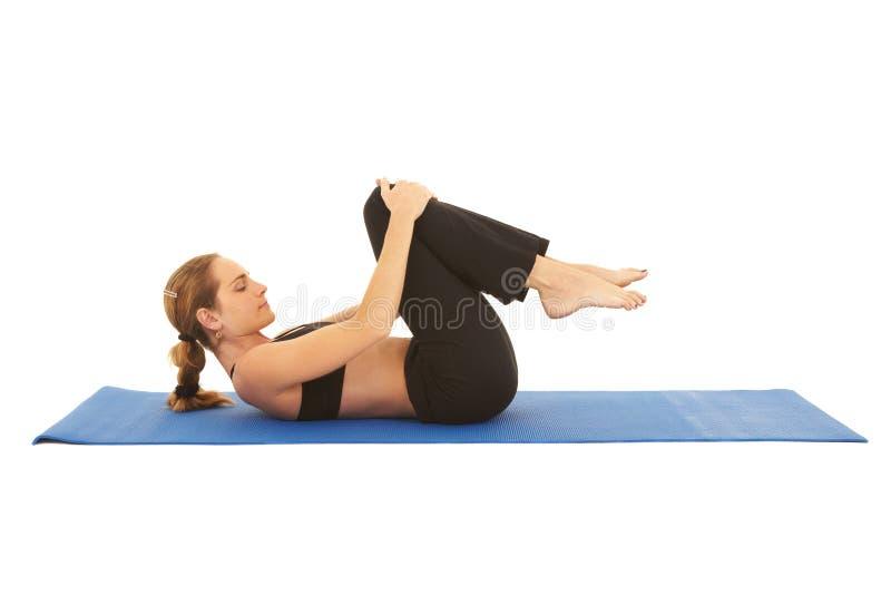 Serie di esercitazione di Pilates fotografie stock libere da diritti