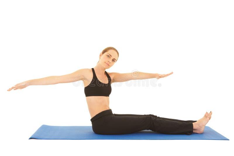 Serie di esercitazione di Pilates immagini stock libere da diritti