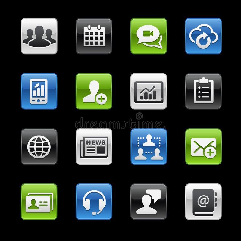 Serie di //GelBox delle icone di tecnologia di affari illustrazione di stock