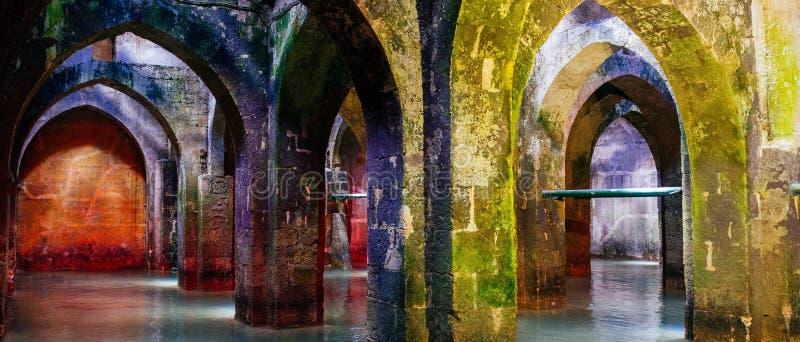 Serie di Holyland - l'acqua Reservior di Ramla fotografie stock