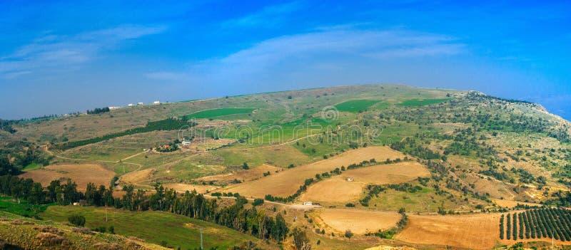 Serie di Holyland - panorama del paesaggio della Galilea immagine stock