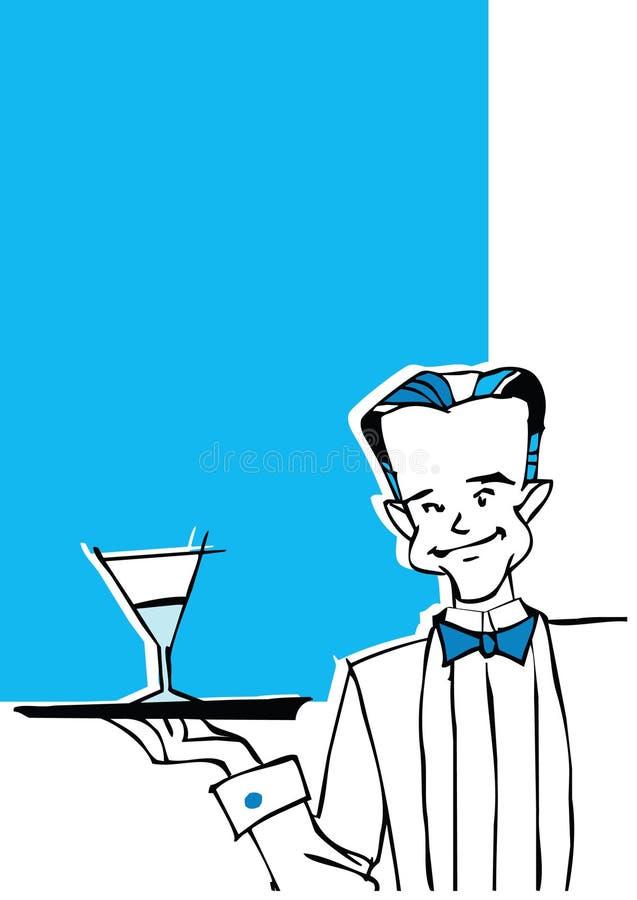 Serie di job - cameriere illustrazione di stock
