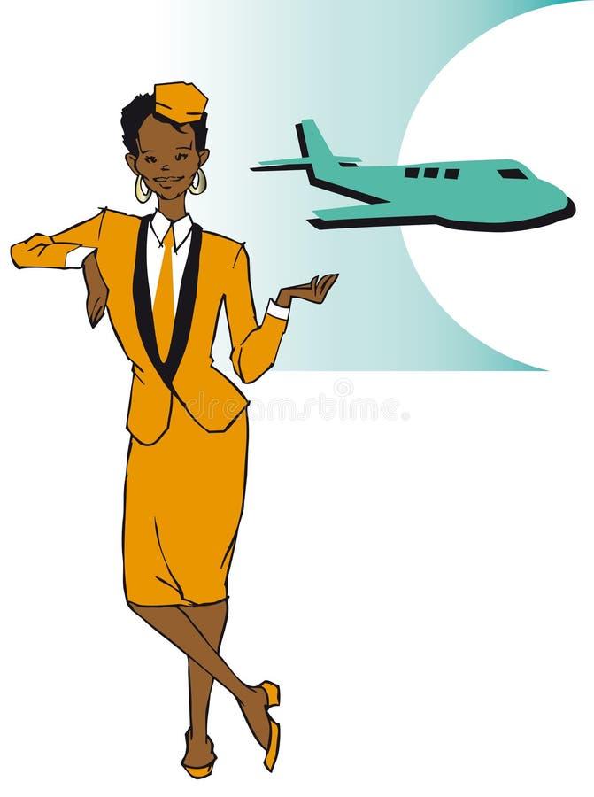 Serie di job - stewardess illustrazione vettoriale