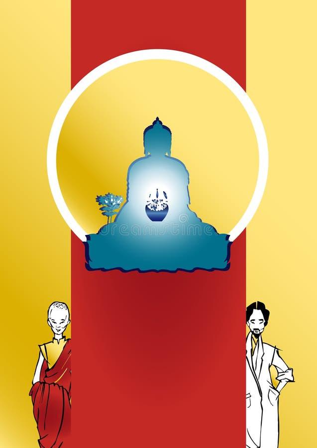 Serie di job - terapista tibetano royalty illustrazione gratis