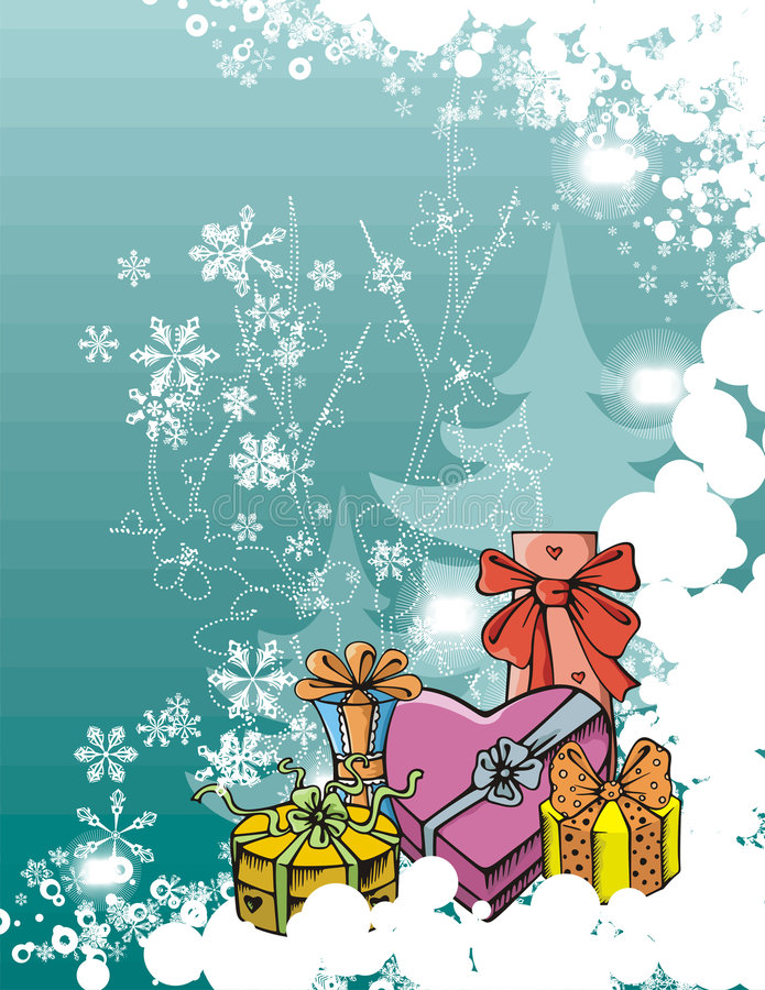 Serie di vacanza invernale royalty illustrazione gratis