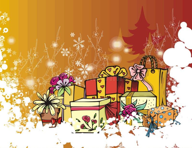 Serie di vacanza invernale illustrazione vettoriale
