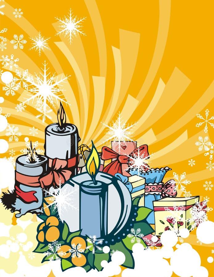 Serie di vacanza invernale illustrazione di stock