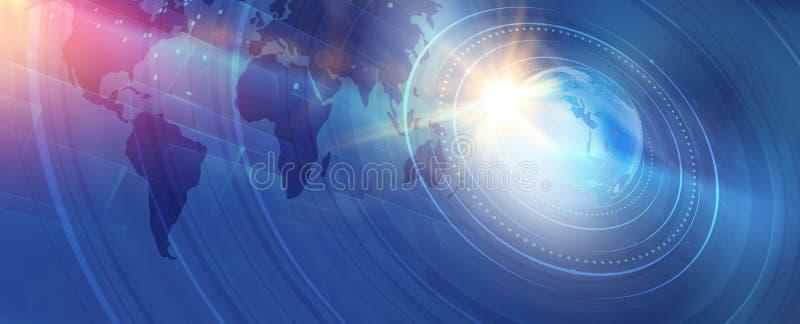 Serie digital moderna gráfica del concepto del fondo de las noticias de mundo stock de ilustración