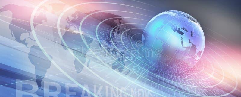 Serie digitale moderna grafica di concetto del fondo di notizie di mondo illustrazione vettoriale