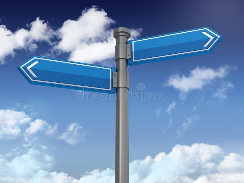 Serie direccional de la muestra: VACÍO - fondo del cielo azul y de las nubes libre illustration