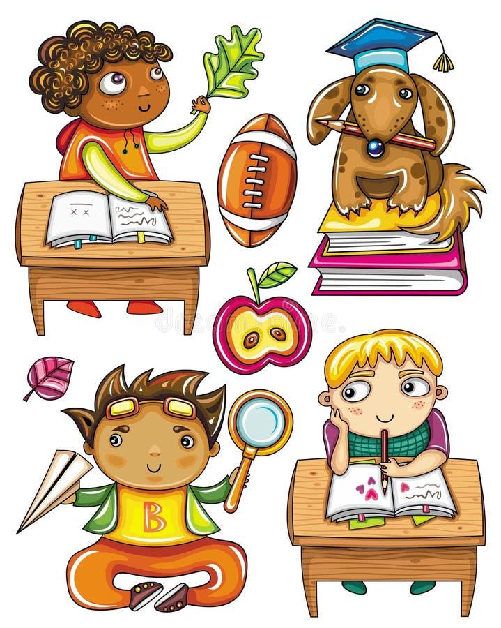 Serie divertida 2 de los alumnos stock de ilustración
