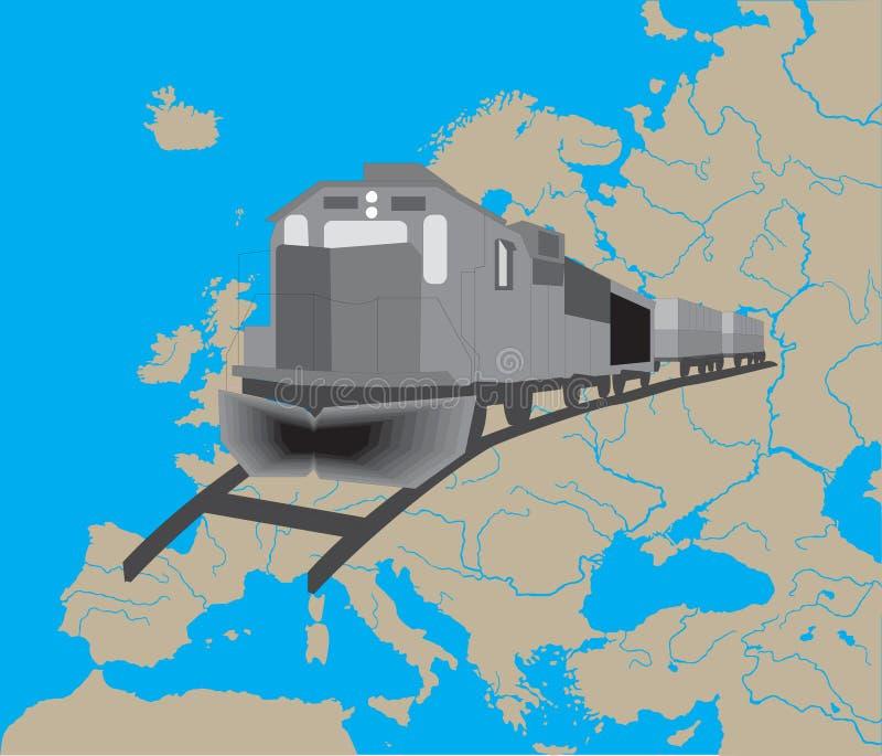 Serie in Europa vektor abbildung