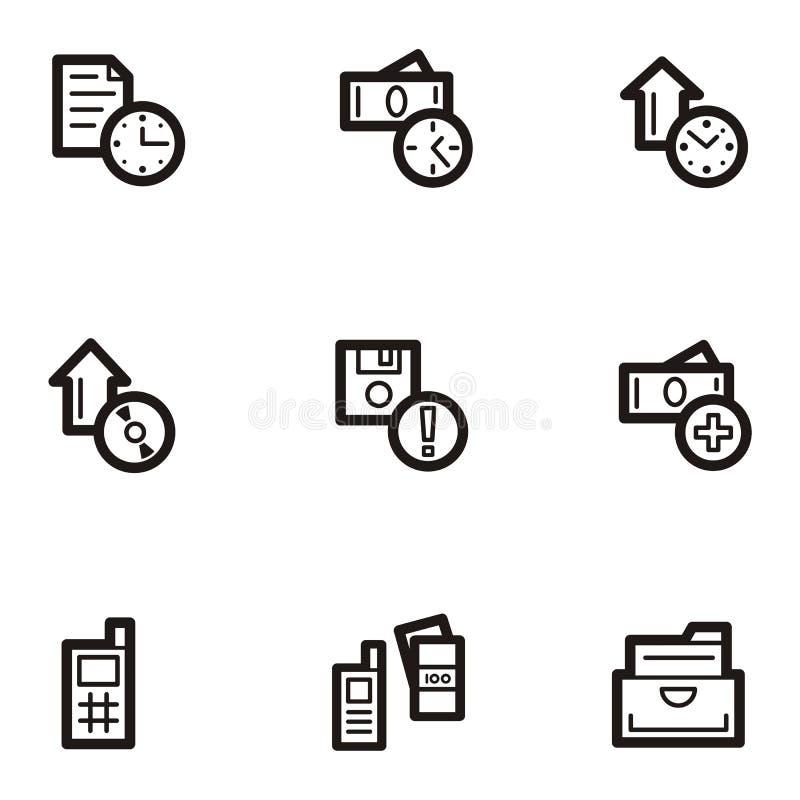 serie för affärssymbolsplain royaltyfri illustrationer
