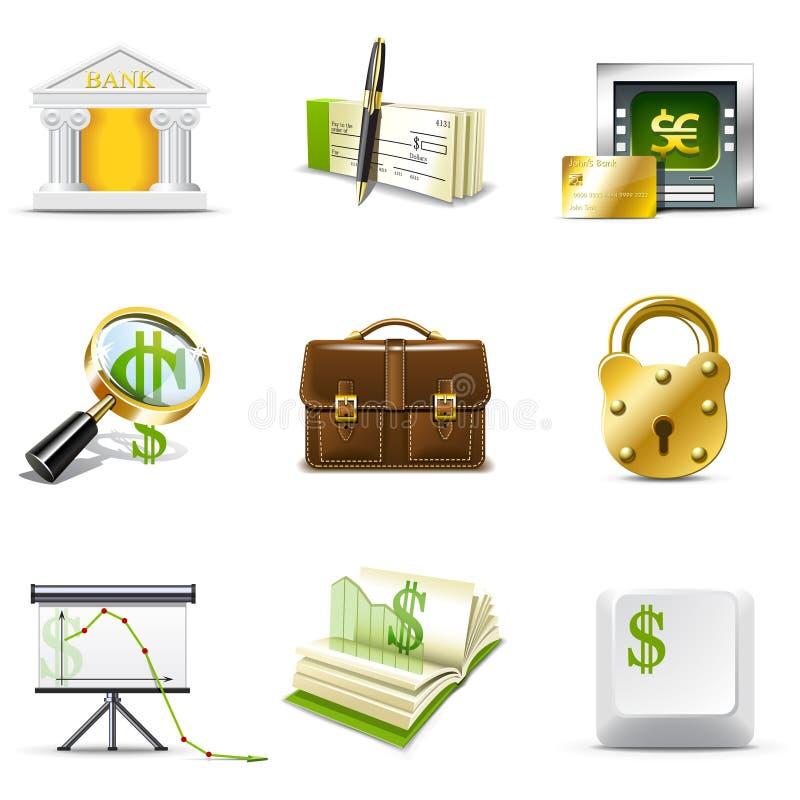 serie för bankrörelsebellasymboler vektor illustrationer