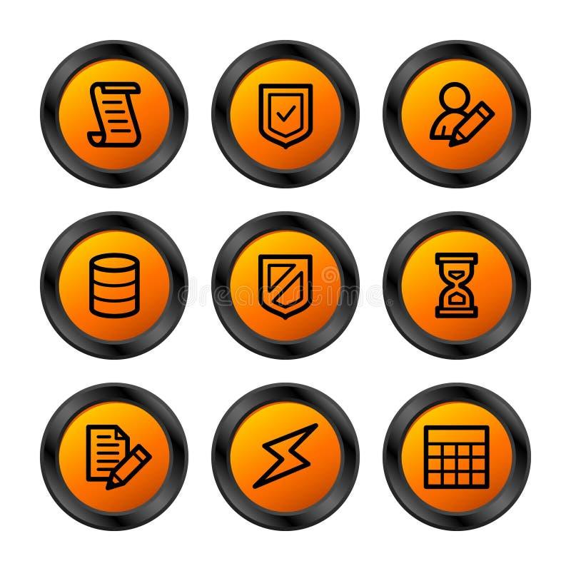 serie för databassymbolsorange stock illustrationer