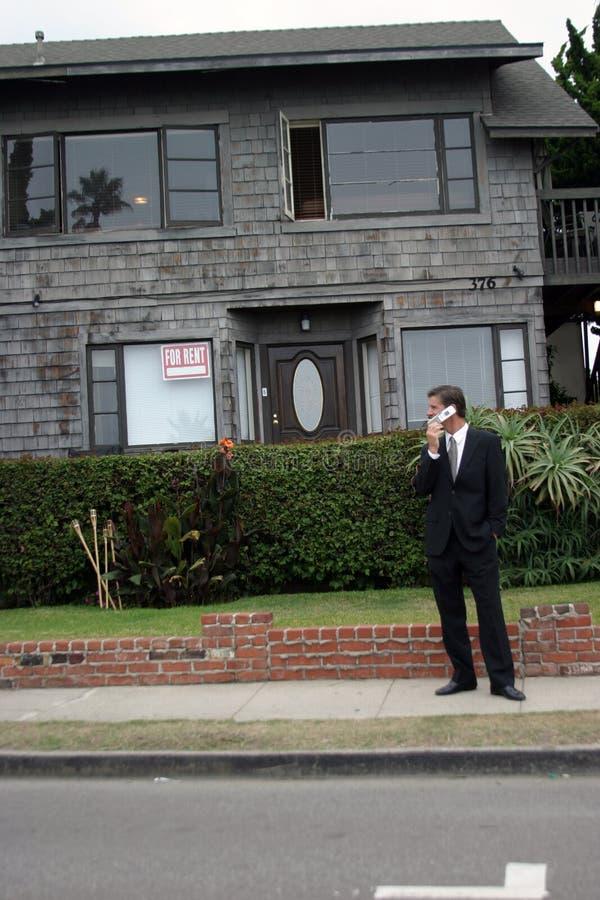 serie för fastighetsmäklare för affärsman arkivbild