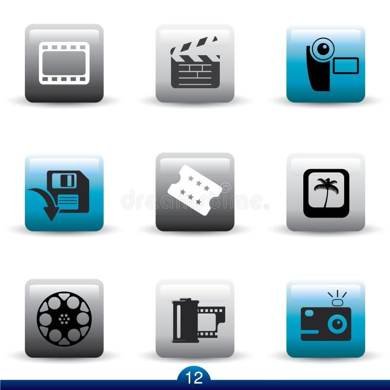 serie för filmsymbolsfilm royaltyfri illustrationer