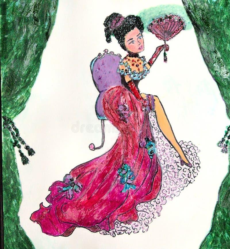 serie för flickalesnatalie stock illustrationer