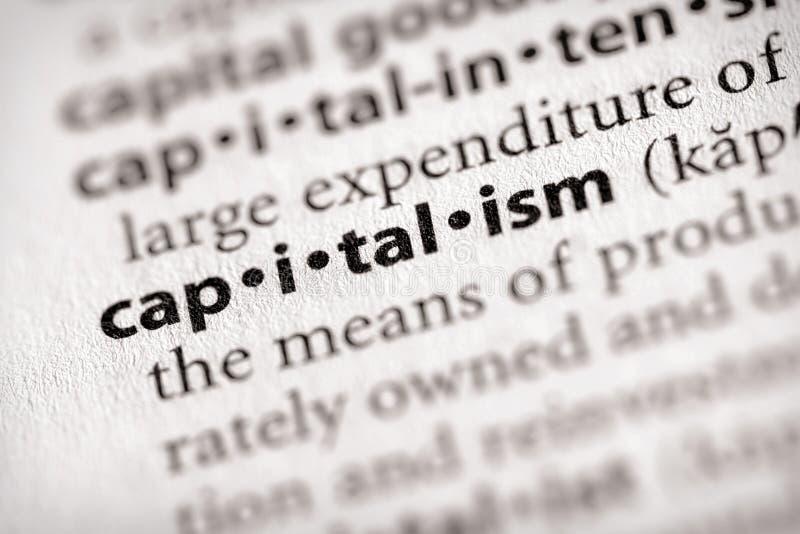 serie för kapitalismordboknationalekonomi fotografering för bildbyråer