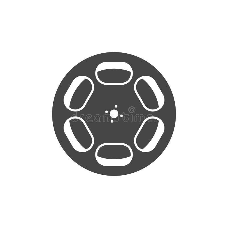 serie för rulle för filmsymbol röd royaltyfri illustrationer