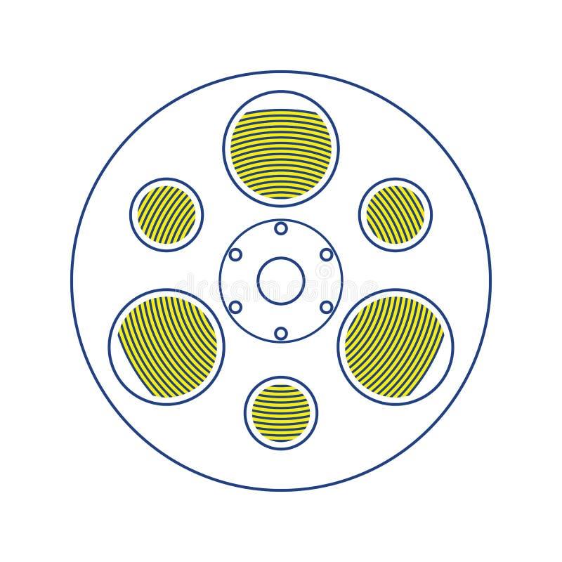 serie för rulle för filmsymbol röd stock illustrationer