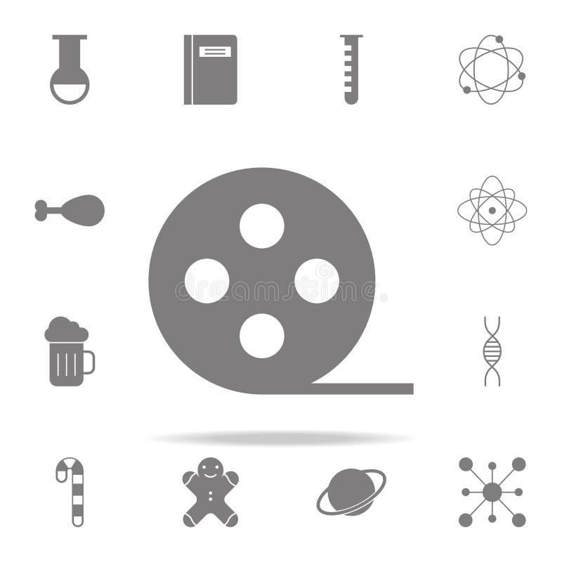 serie för rulle för filmsymbol röd universell uppsättning för rengöringsduksymboler för rengöringsduk och mobil stock illustrationer