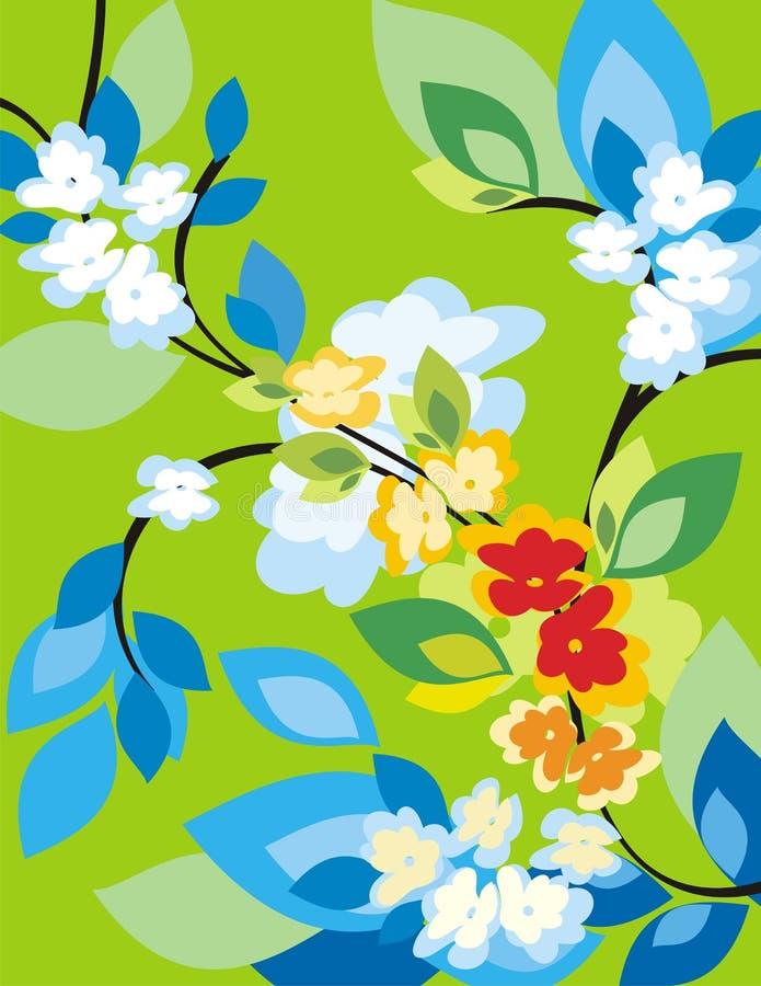 Serie floral del fondo libre illustration