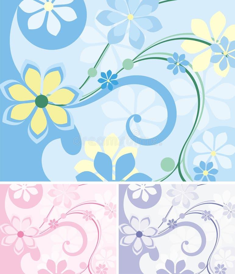 Serie floral del fondo stock de ilustración