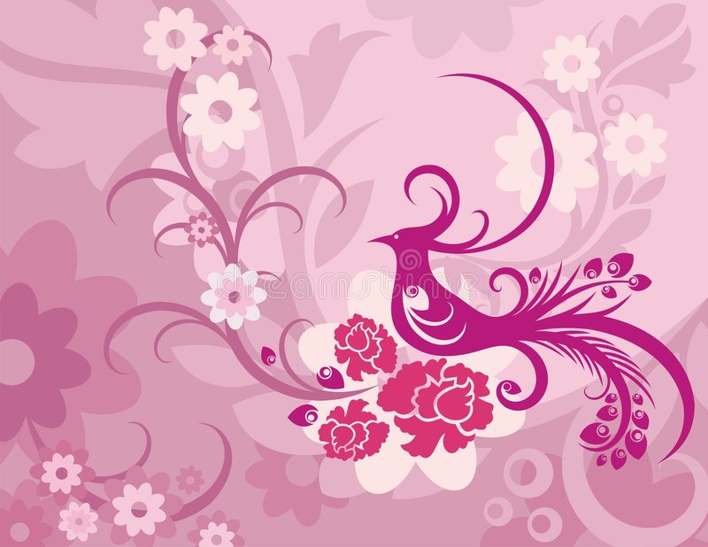 Serie floral del fondo del pájaro libre illustration