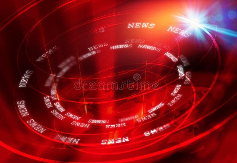Serie grafica 24 di concetto del fondo di notizie illustrazione vettoriale