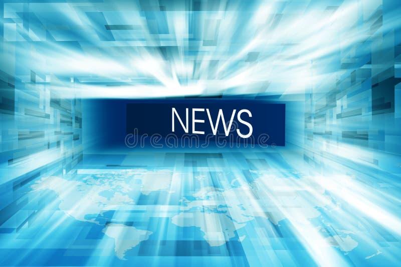 Serie incluida 04 del concepto del fondo del estudio de las noticias de la alta tecnología ilustración del vector