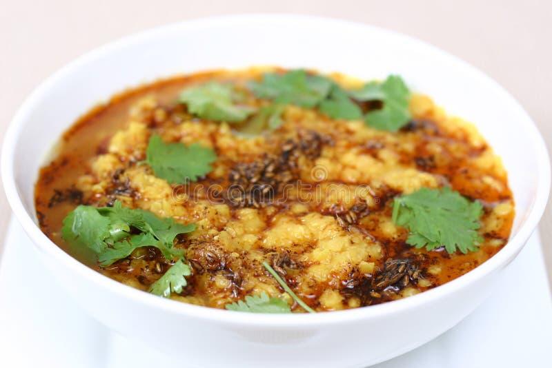 Serie india del alimento - sopa de lenteja (Dal) foto de archivo libre de regalías