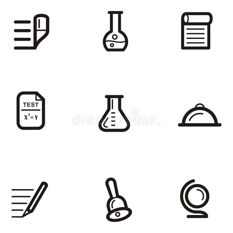 Serie llana del icono - educación