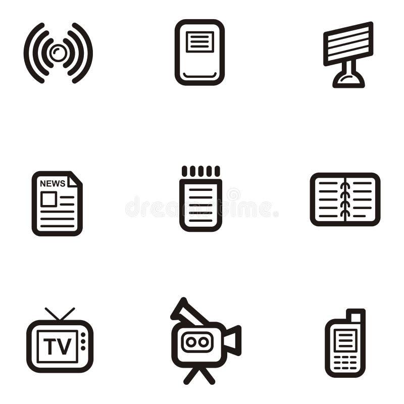 Serie llana del icono - media ilustración del vector