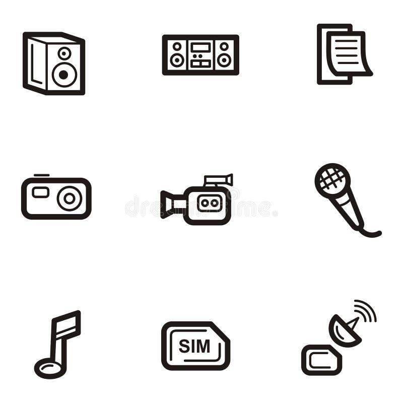 Serie llana del icono - media libre illustration