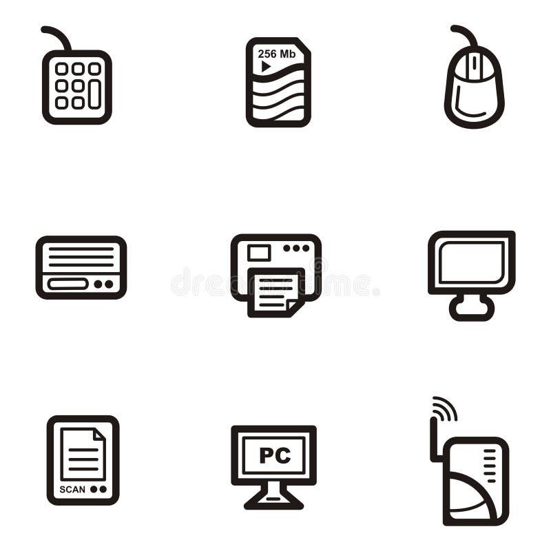 Serie llana del icono - ordenadores libre illustration