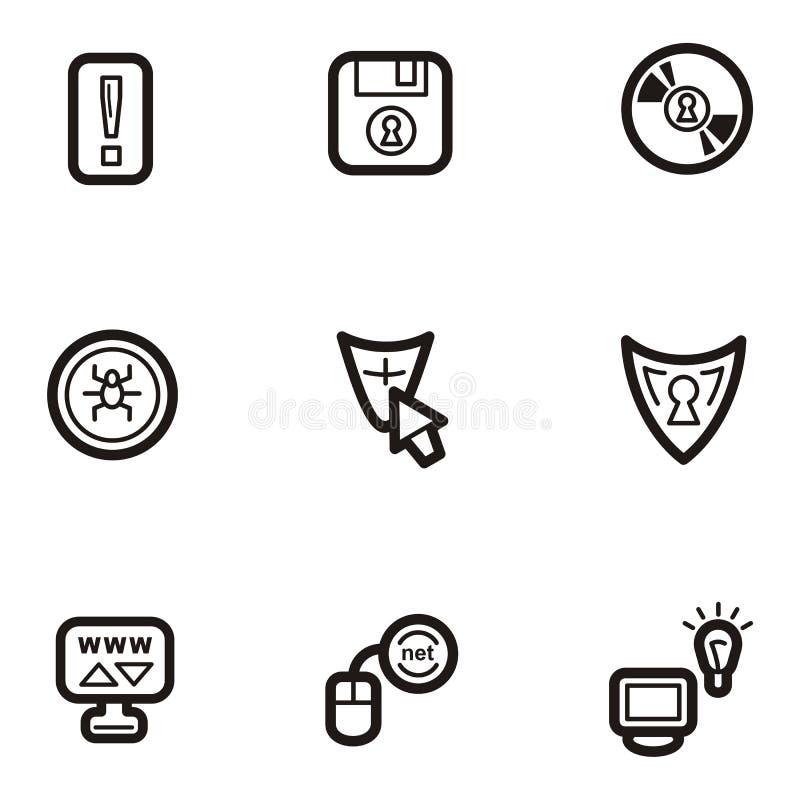 Serie llana del icono - Web ilustración del vector