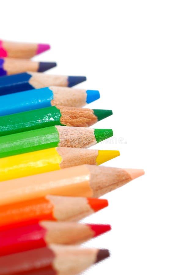 Serie multicolora 02 del lápiz del gráfico imagen de archivo libre de regalías
