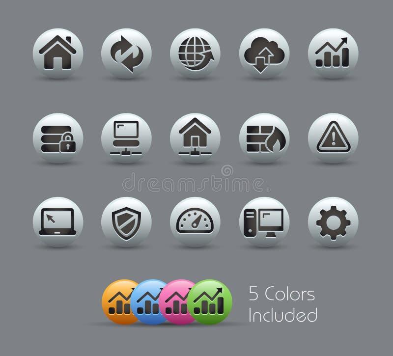 Serie nacarada de //de los iconos del desarrollador stock de ilustración