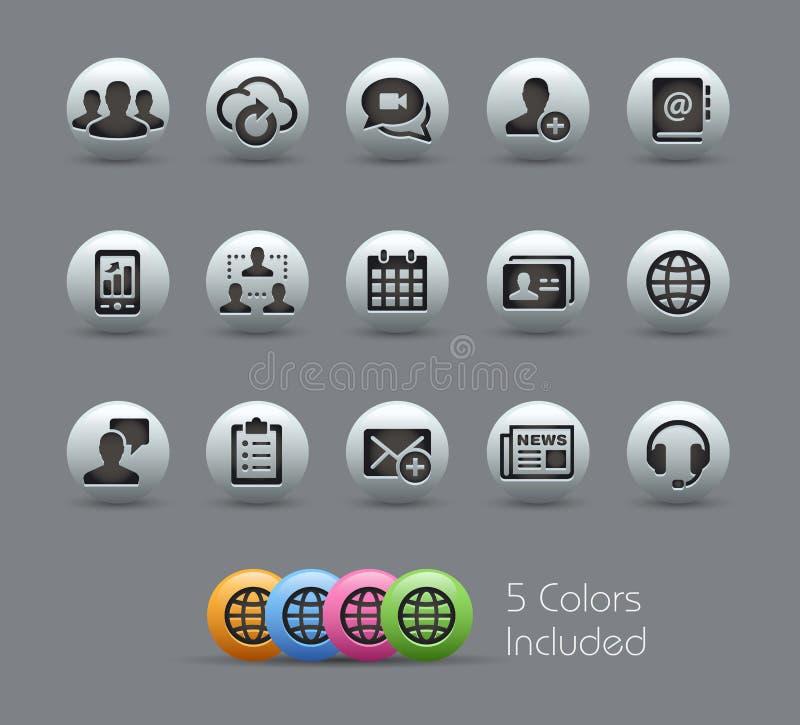 Serie nacarada de los iconos de la tecnología del negocio libre illustration