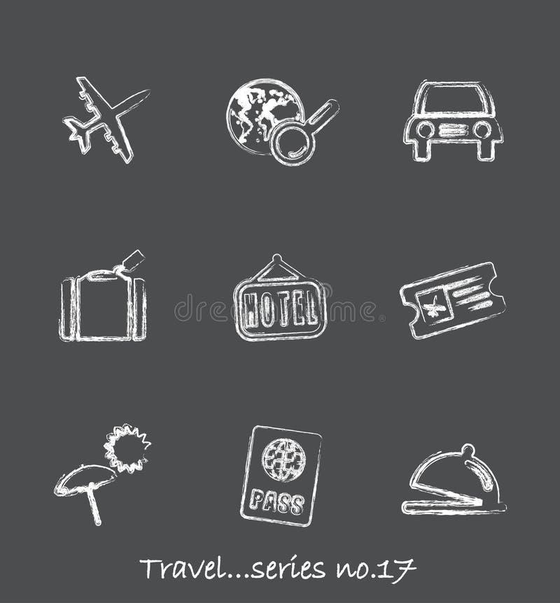 Serie no.17 de los iconos de la pizarra del recorrido? ilustración del vector