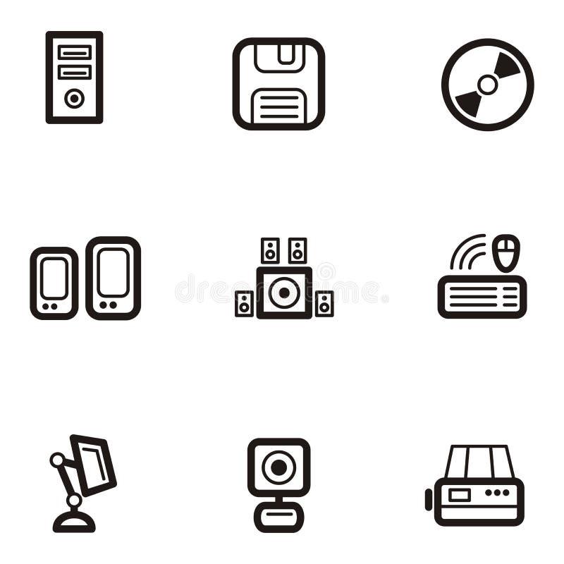 Serie normale dell'icona - calcolatori royalty illustrazione gratis