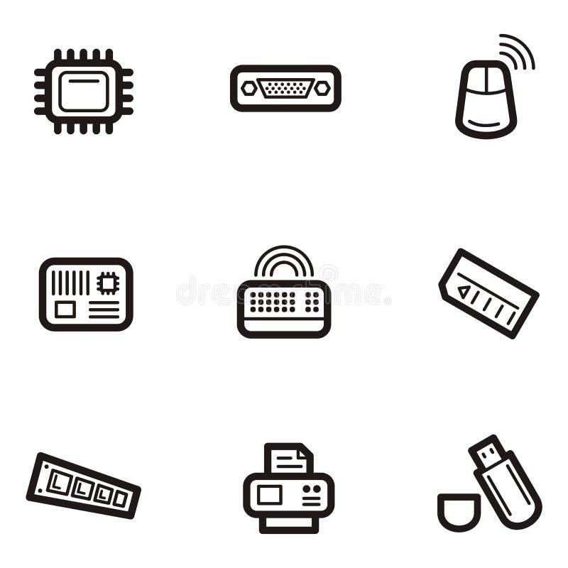 Serie normale dell'icona - calcolatori illustrazione di stock