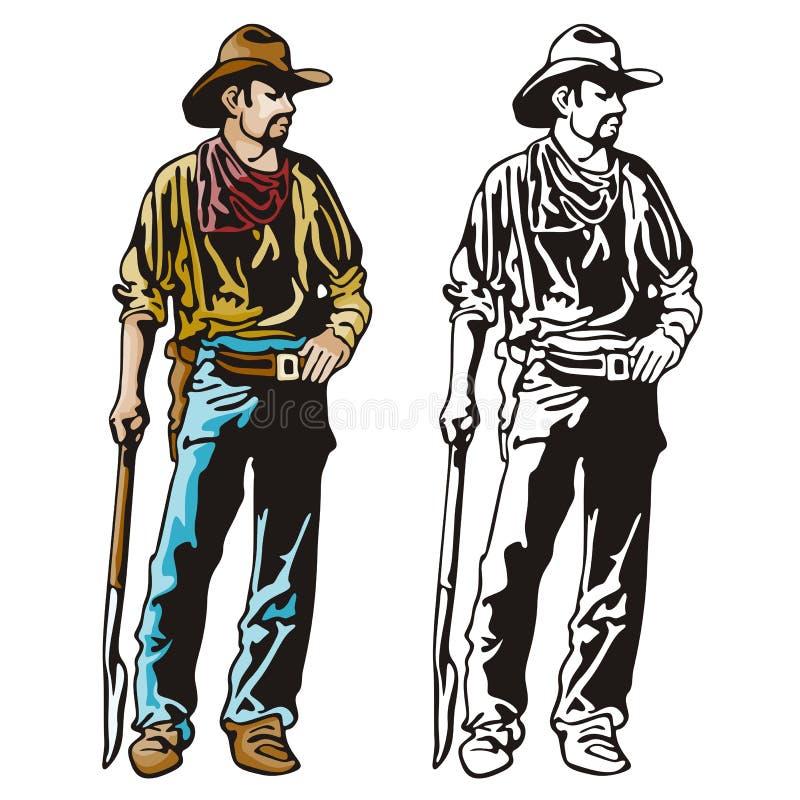 Serie occidental de la ilustración ilustración del vector