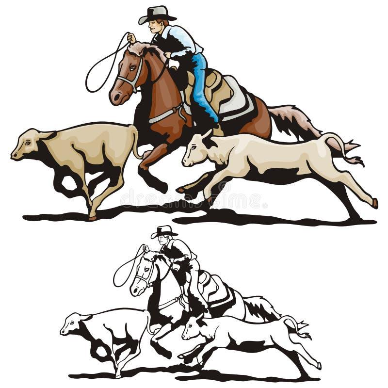 Serie occidentale dell'illustrazione illustrazione di stock