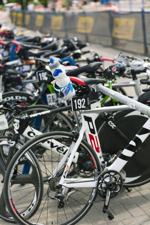 Serie occidentale di triathlon di Suburu fotografie stock libere da diritti